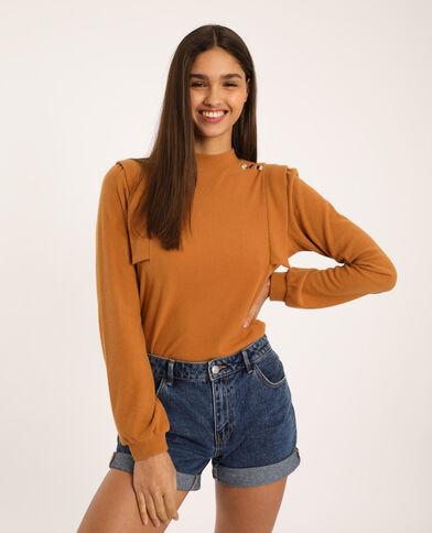 T-shirt épais marron