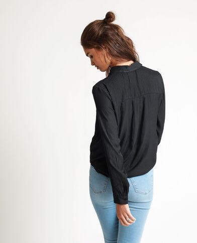 Chemise satinée noir