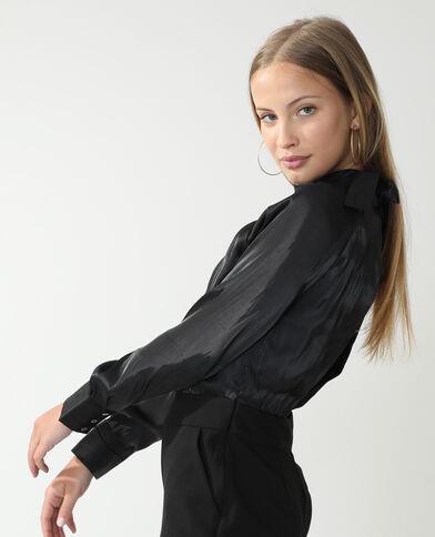 Satijnachtige jumpsuit zwart - Pimkie