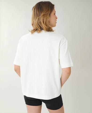 T-shirt ample téléphone blanc - Pimkie