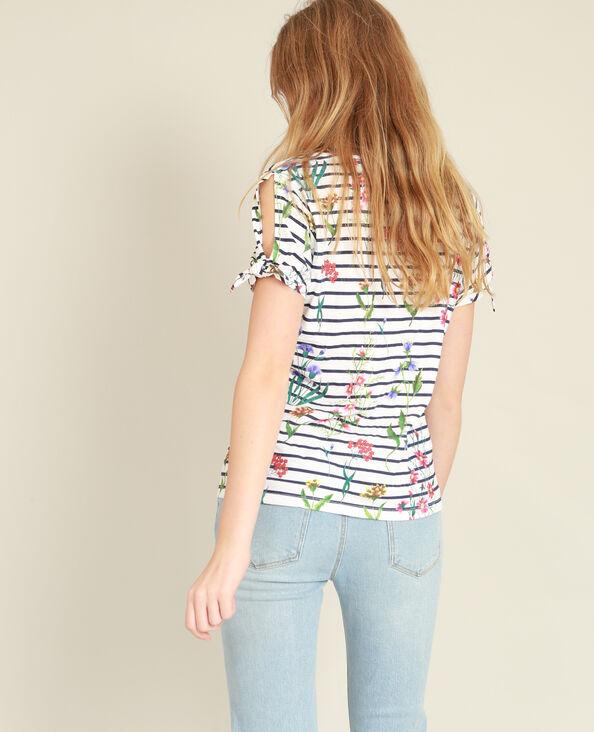 Bedrukt T-shirt marineblauw