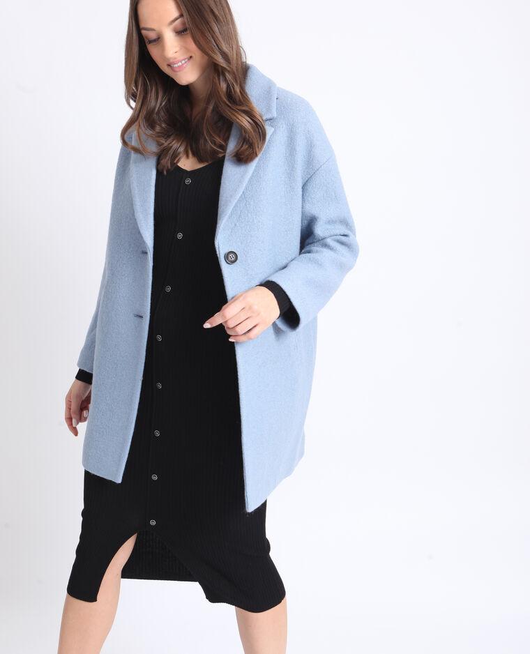 acheter en ligne 7233b 4141f Manteau droit en laine