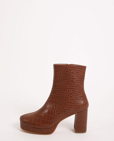 Boots plateforme marron