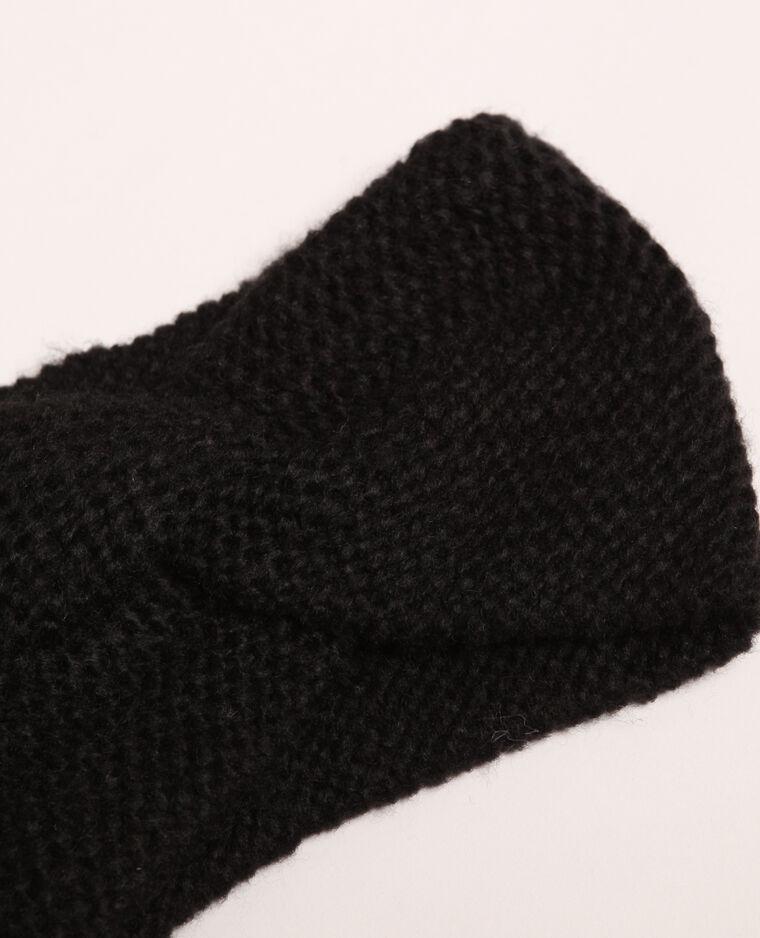 Headband twisté noir