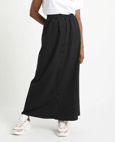 Lange rok met knopen zwart