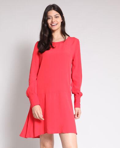 Soepelvallende jurk rood