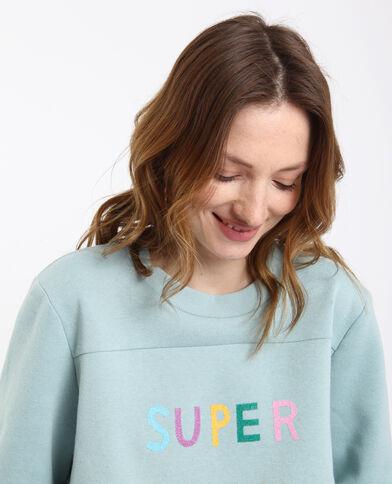 SUPER sweater watergroen