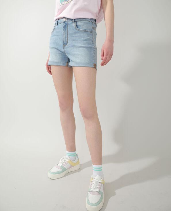 Jeansshort verwassen blauw - Pimkie