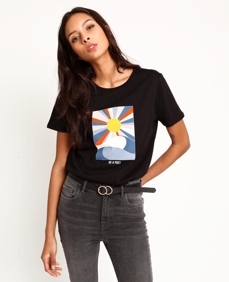 T-shirt à imprimé noir