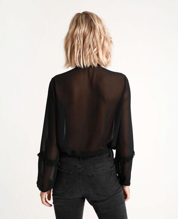 Chemise transparente noir