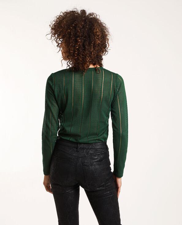 T-shirt en dentelle vert