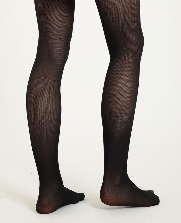 Panty's met nettricoteffect zwart