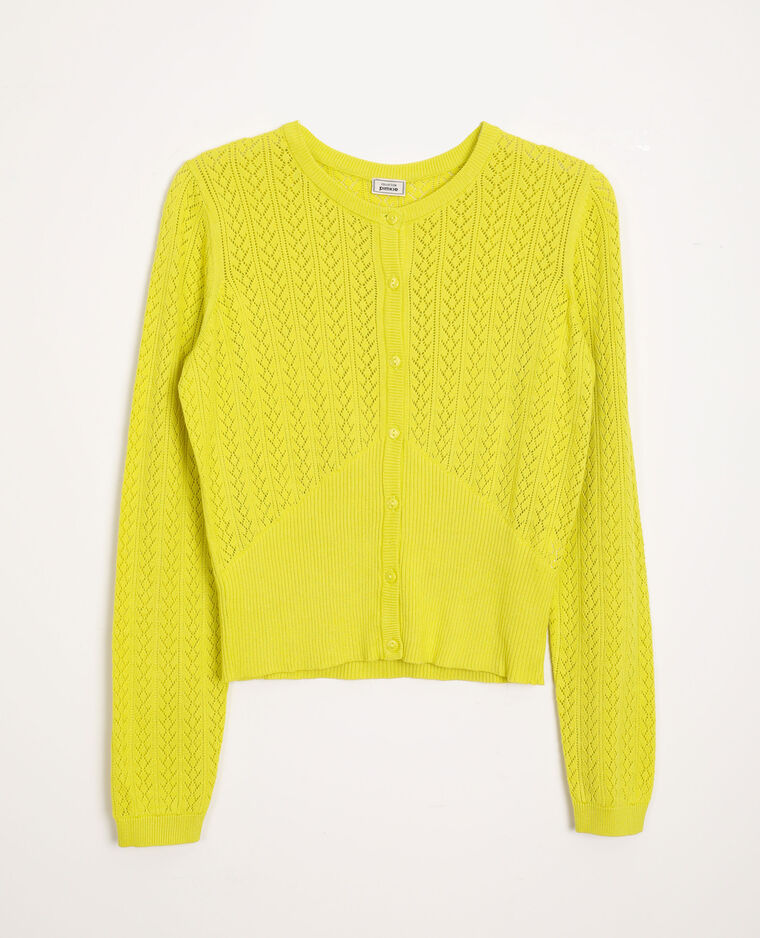 Vest van origineel tricot geel