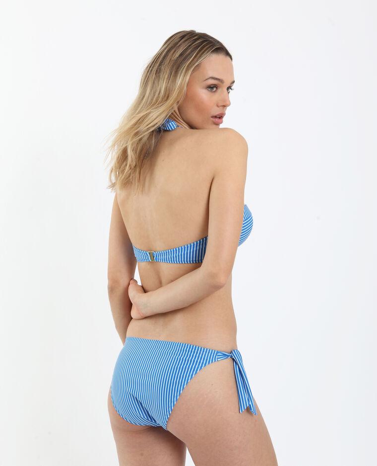 Bas de bikini rayé bleu