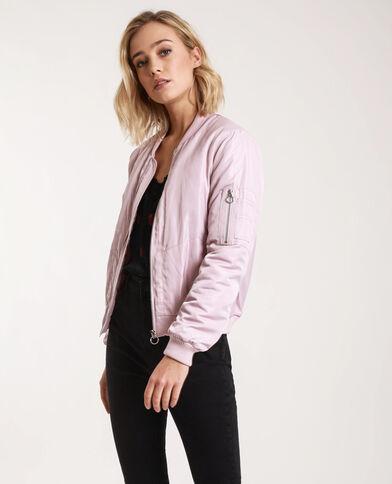 Satijnen bomberjack roze