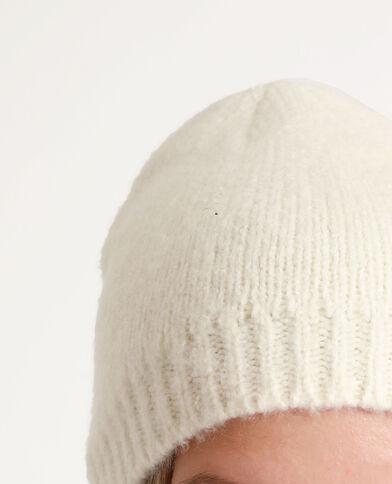 Bonnet doux blanc cassé