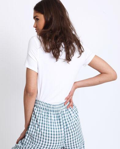 T-shirt met V-hals wit