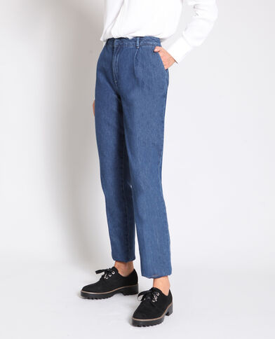 Jeans met hoge taille blauw
