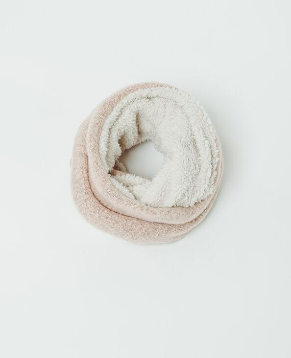 Snood en fausse fourrure rose