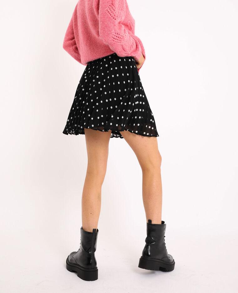Jupe courte plissée noir