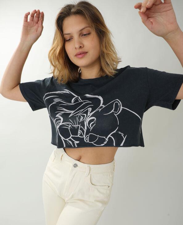 T-shirt cropped Le Roi Lion gris - Pimkie