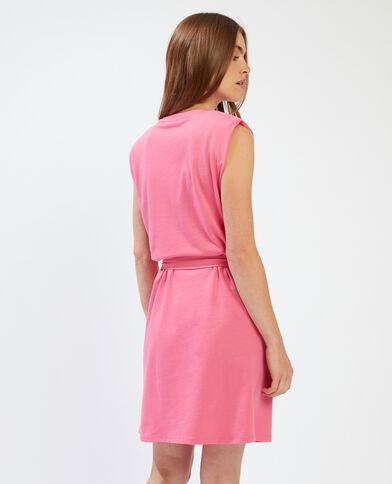 T-shirtjurk met epauletten roze - Pimkie