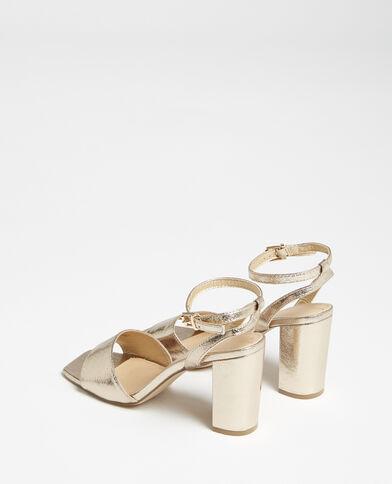 Sandalen met bandje goudkleurig