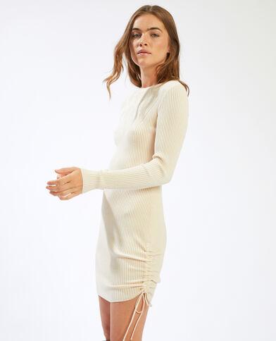 Trui-jurk met lange mouwen beige - Pimkie