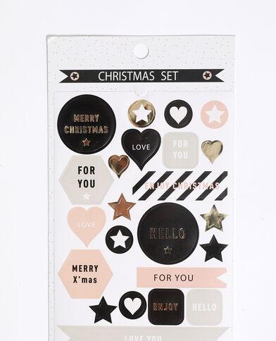 Masking tape en kerststickers ecru