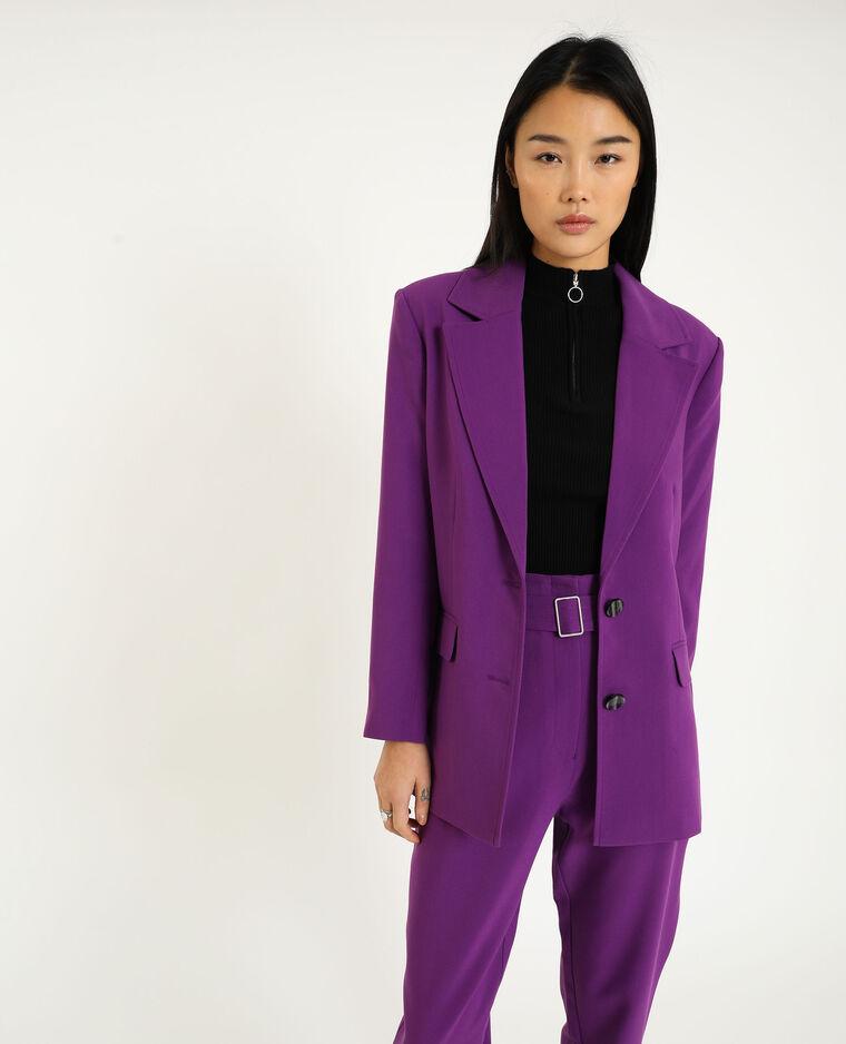 Lange blazer violet
