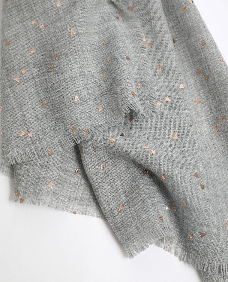 Lichte sjaal gemêleerd grijs