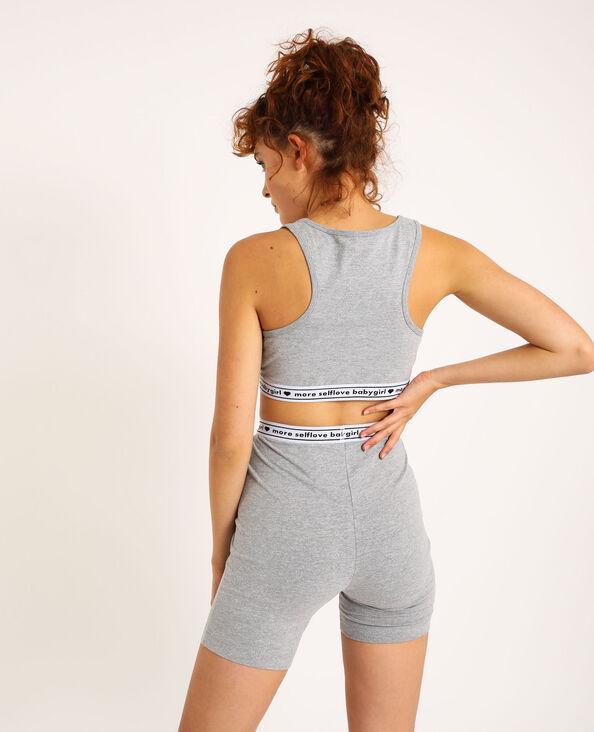 Loungewear behatop gemêleerd grijs