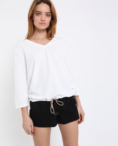 Sweater met V-hals wit