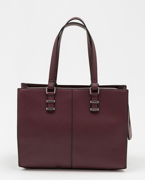 Sac cabas rigide Bordeaux