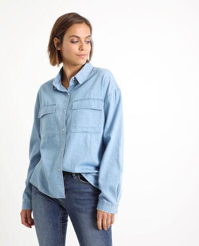 Hemd met zakken blauw