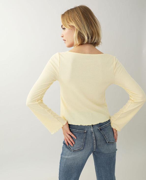 Shirt met lange mouwen geel