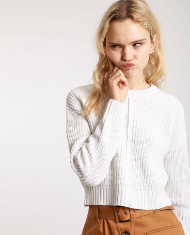 Korte trui gebroken wit