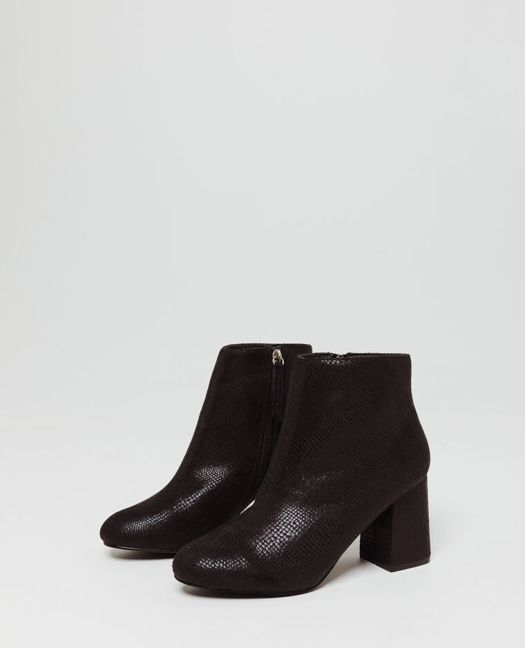 Bottines serpent noir