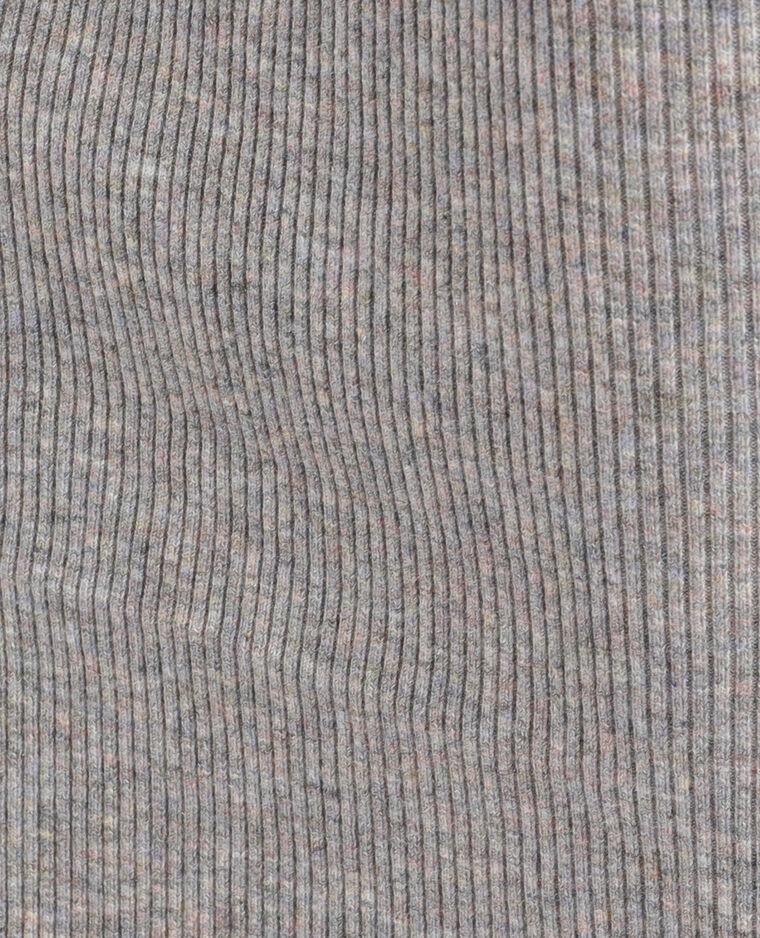 Robe en maille gris chiné
