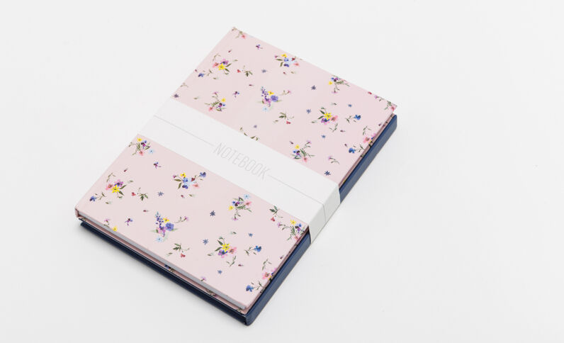 Set van 2 notitieboekjes roze