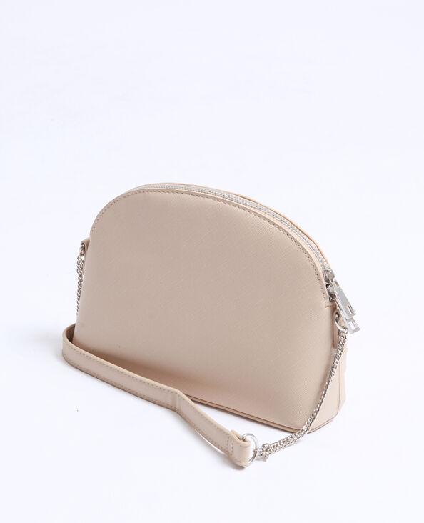 Petit sac en faux cuir beige