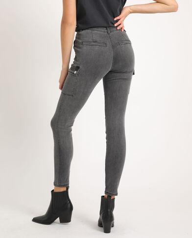 Slim fit jeans met zakken antracietgrijs