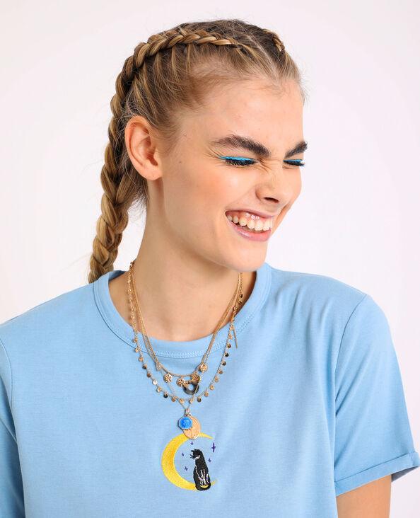 T-shirt court bleu turquoise