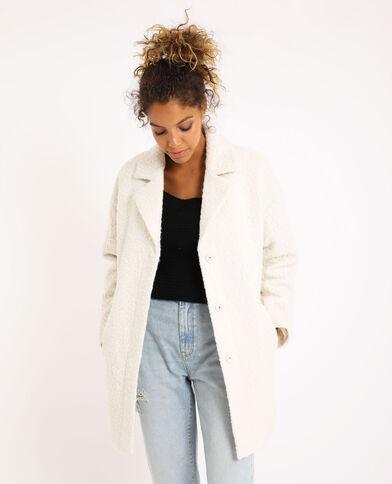 Manteau imitation mouton blanc cassé
