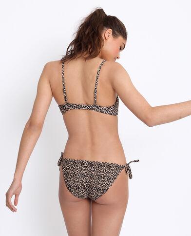 Bandeau bikini léopard marron