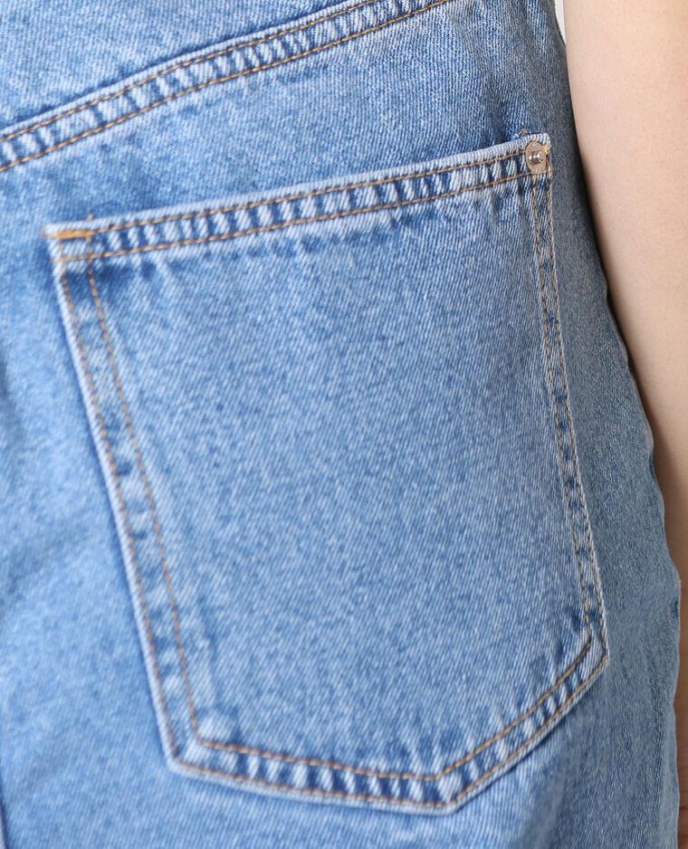 Jean taille haute bleu foncé