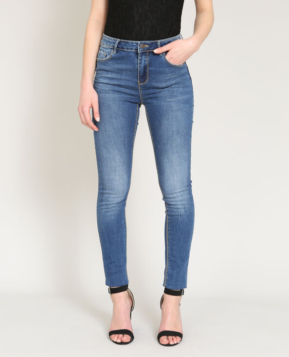 Push-up jeans denimblauw