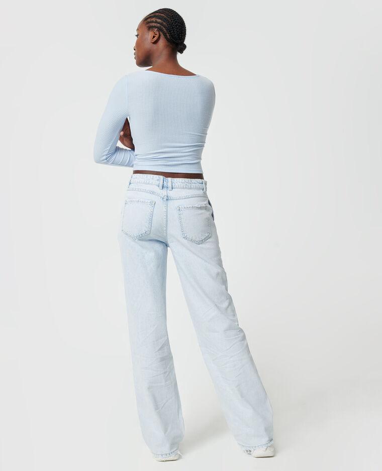 Brede jeans Lichtblauw - Pimkie