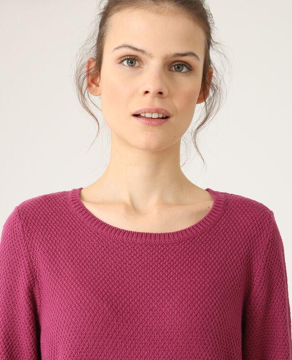 Trui in origineel tricot pruim