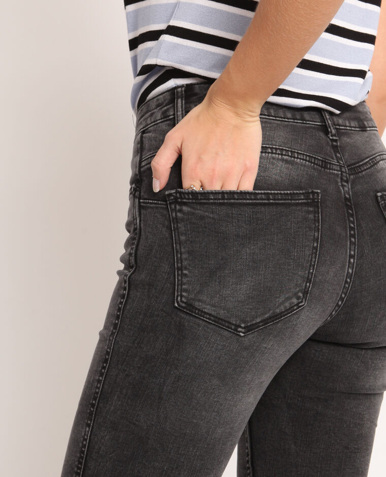 Jean push up mid waist gris usé